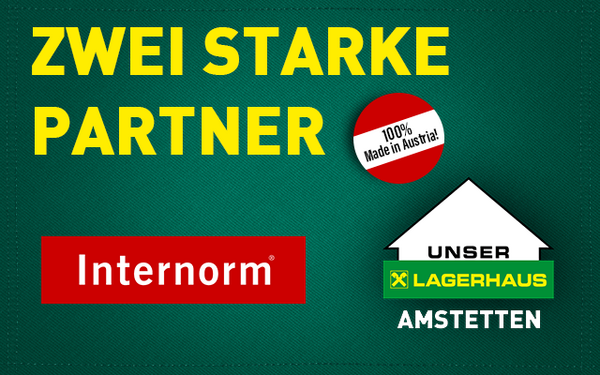 Internorm, Lagerhaus Amstetten, starke Partner, 100% made in Austria